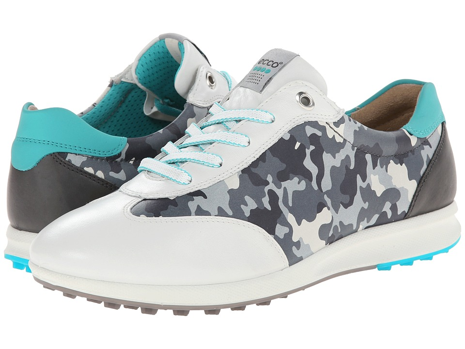 ECCO Golf - Street EVO One Camo (White/Titanium/Turquoise) Women's Golf Shoes