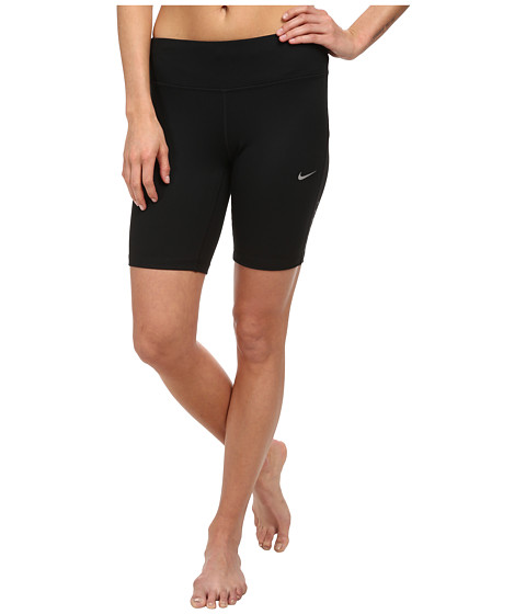 Nike - 8 Epic Run Short (Black/Black/Reflective Silver) Women