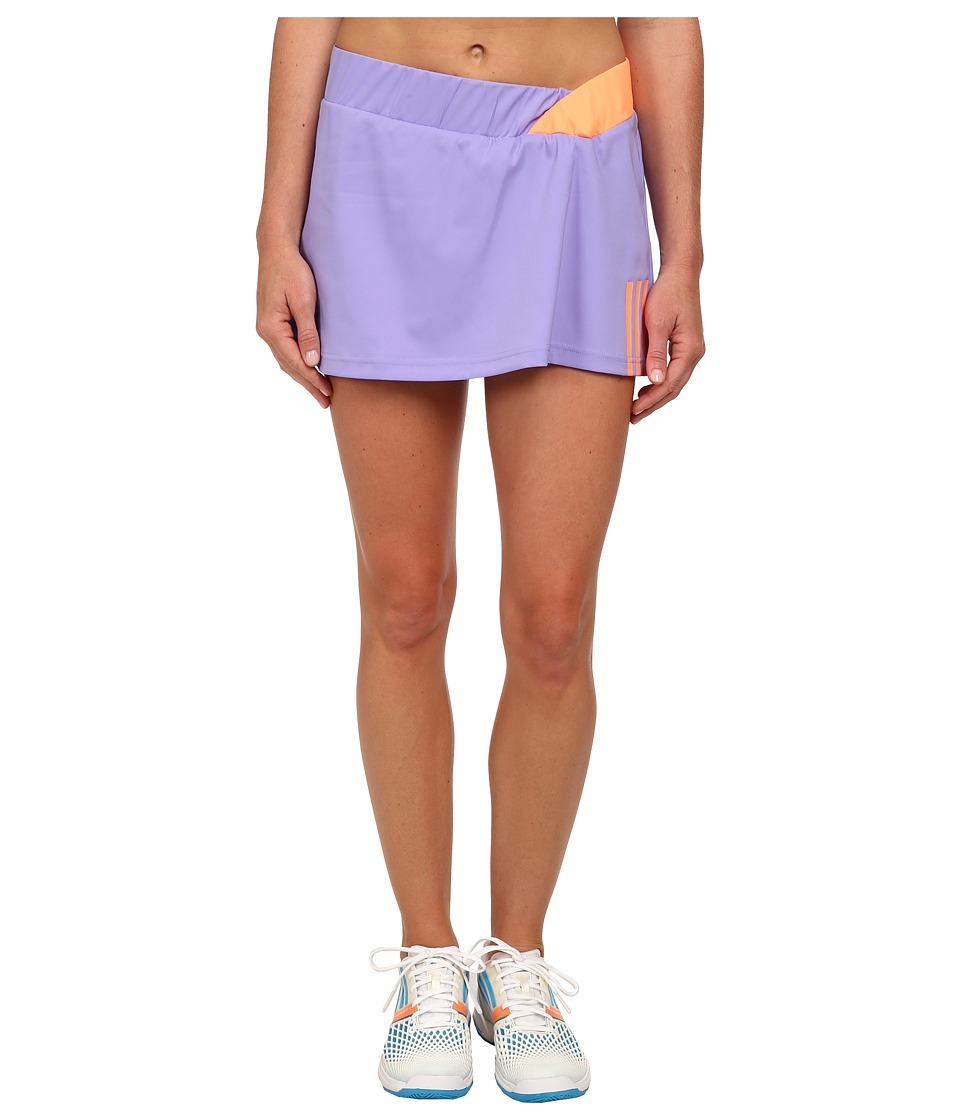 adidas - Response Skort (Light Flash Purple/Flash Orange) Women