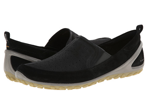 ECCO Sport - BIOM Lite Slip On (Black/Black/Dried Tobacco) Men's Walking Shoes