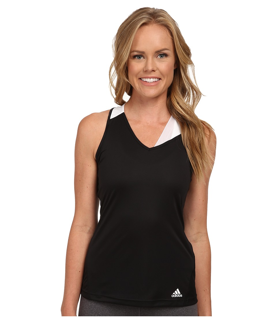 adidas - Response Tank (Black/White) Women's Sleeveless