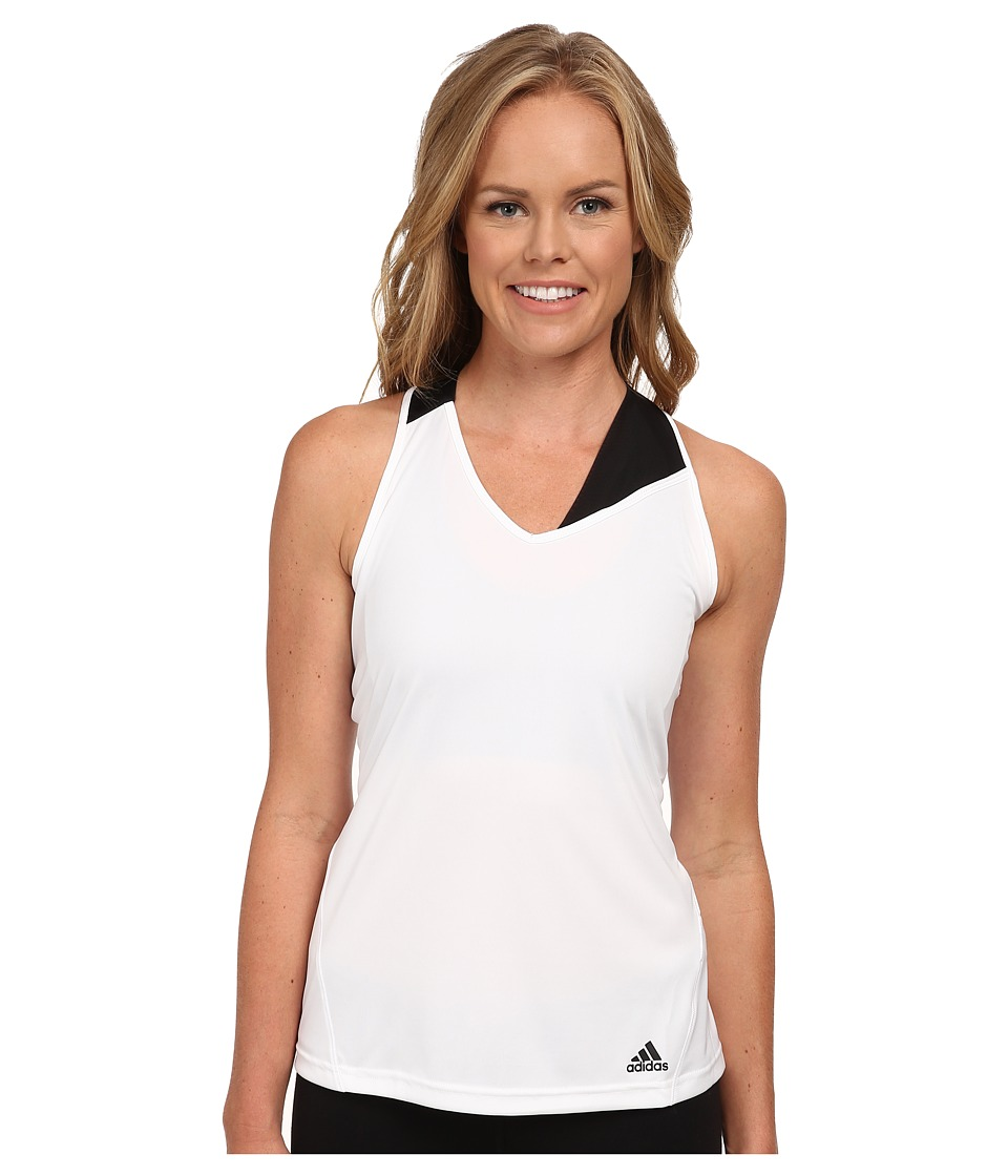 adidas - Response Tank (White/Black) Women's Sleeveless
