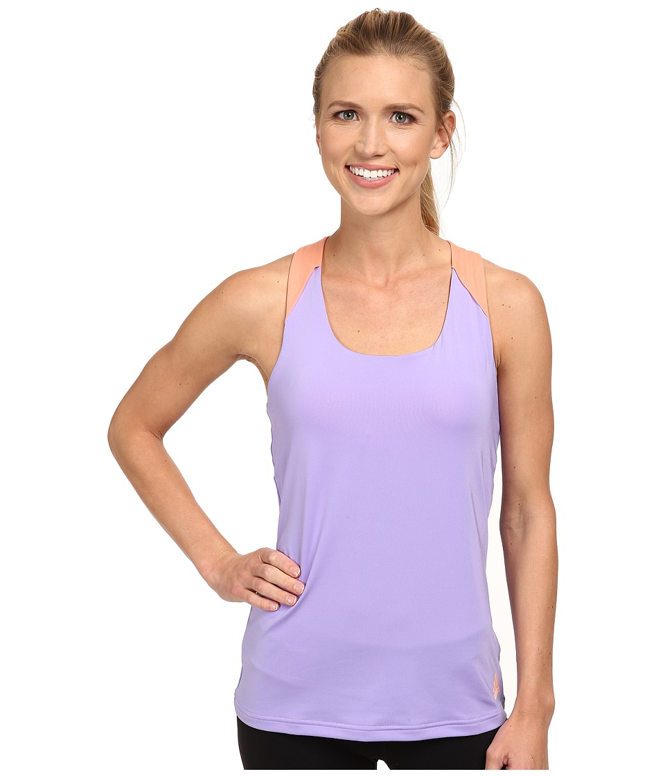 adidas - Response Tank (Light Flash Purple/Flash Orange) Women's Sleeveless