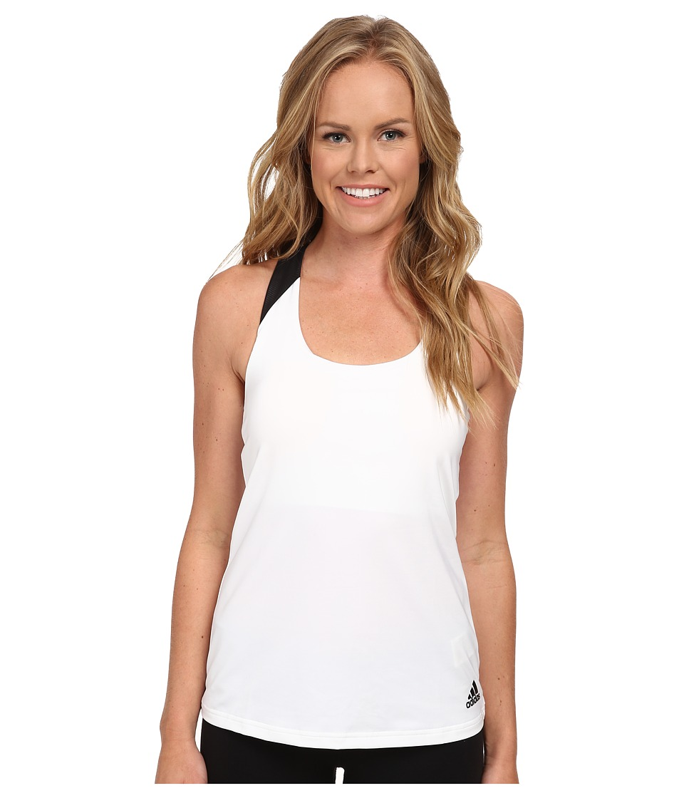 adidas - Response Tank (White Black 2) Women's Sleeveless