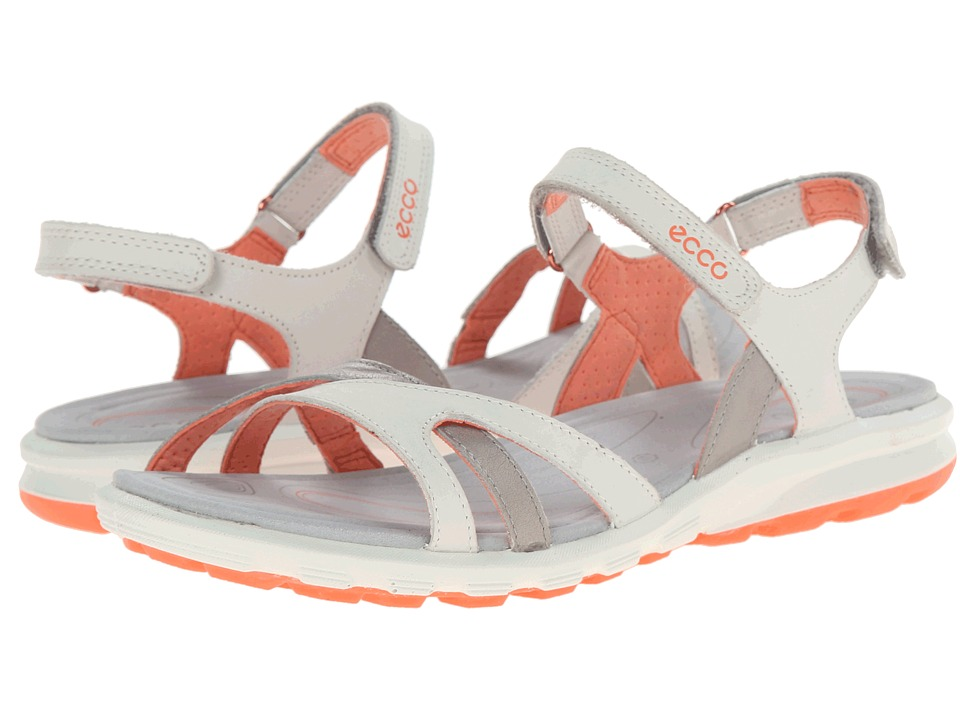 ECCO Sport - Cruise Strap Sandal (Shadow White/Coral) Women's Shoes