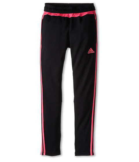 adidas Kids - Tiro 15 Pant (Little Kids/Big Kids) (Black/Solar Pink) Girl's Workout