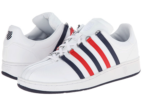 K-Swiss - Classic VN (White/Navy/Red) Men's Shoes