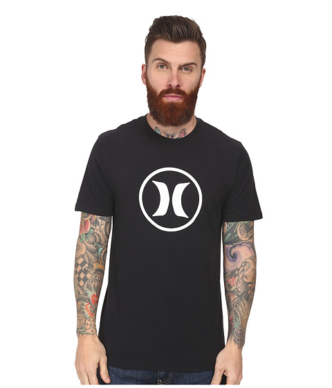 Hurley - Icon Dri-Fit Tee (Black B) Men
