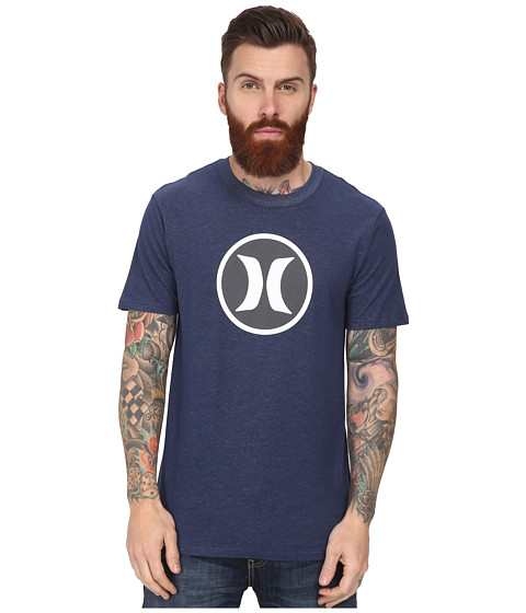 Hurley - Icon Dri-Fit Tee (Heather Midnight Navy C) Men