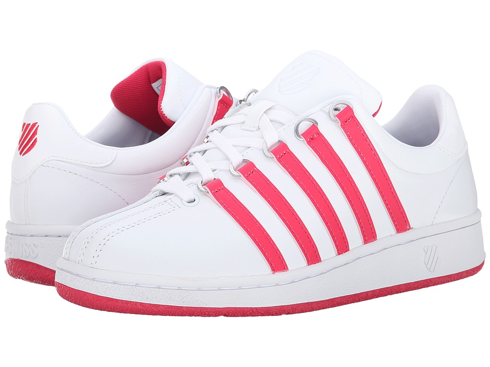 K-Swiss - Classic VN (White/Raspberry) Women's Shoes