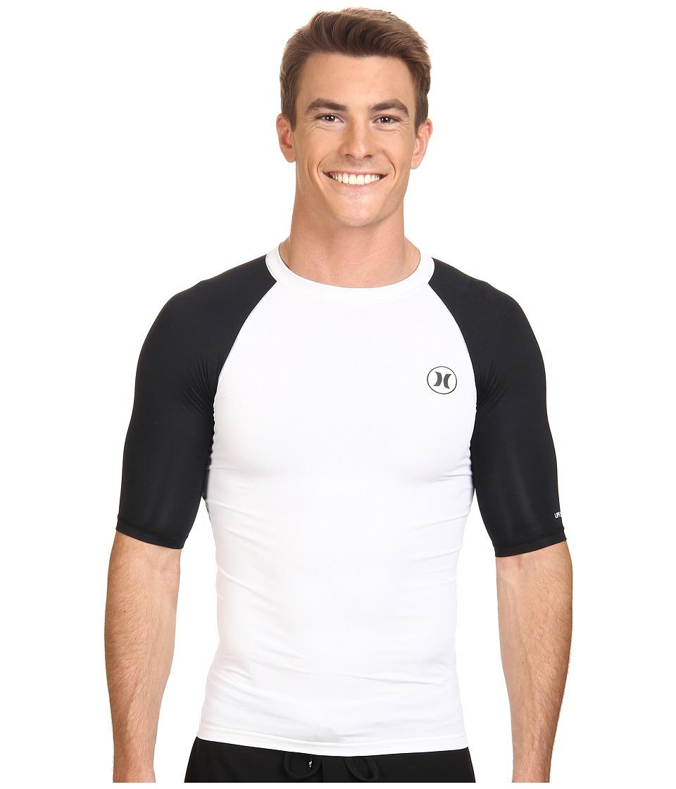 Hurley - Icon S/S Rashguard (White) Men's Swimwear