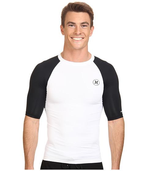 Hurley - Icon S/S Rashguard (White) Men