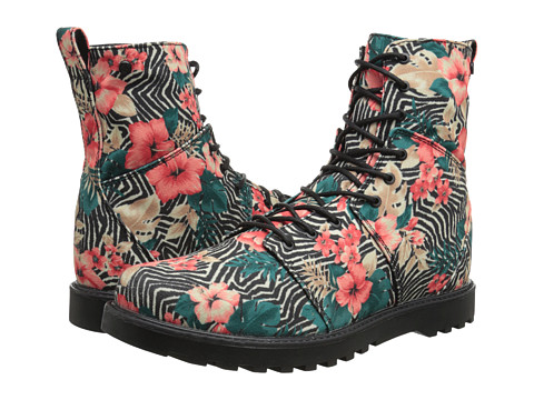 Volcom - Go Figure 2 (Black Print) Women's Lace-up Boots