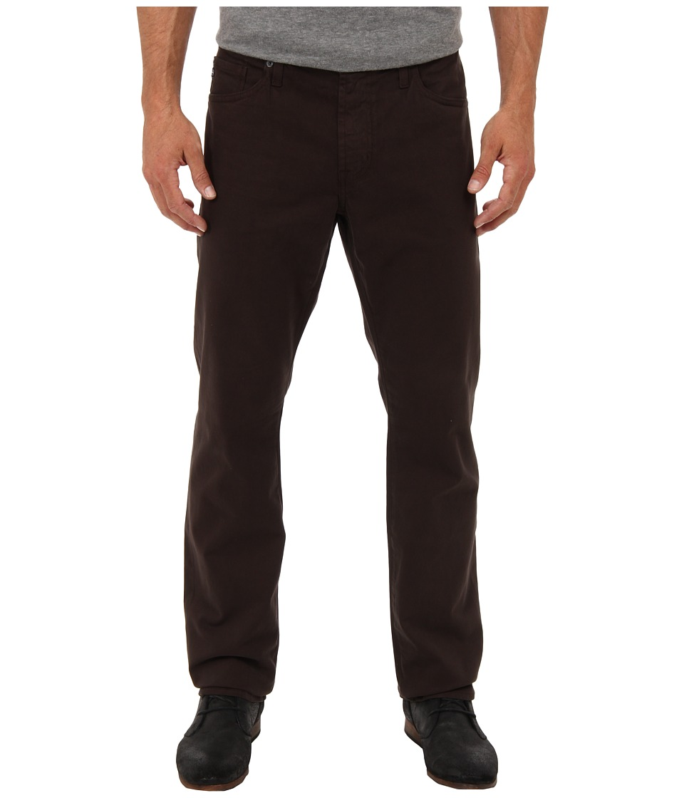 AG Adriano Goldschmied - The Graduate Tailored Straight Sueded Stretch Sateen (Coffee) Men's Casual Pants