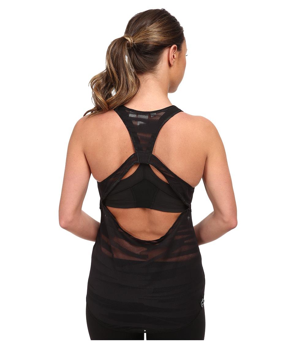PUMA - Mesh It Up Layer Tank (Black) Women's Sleeveless