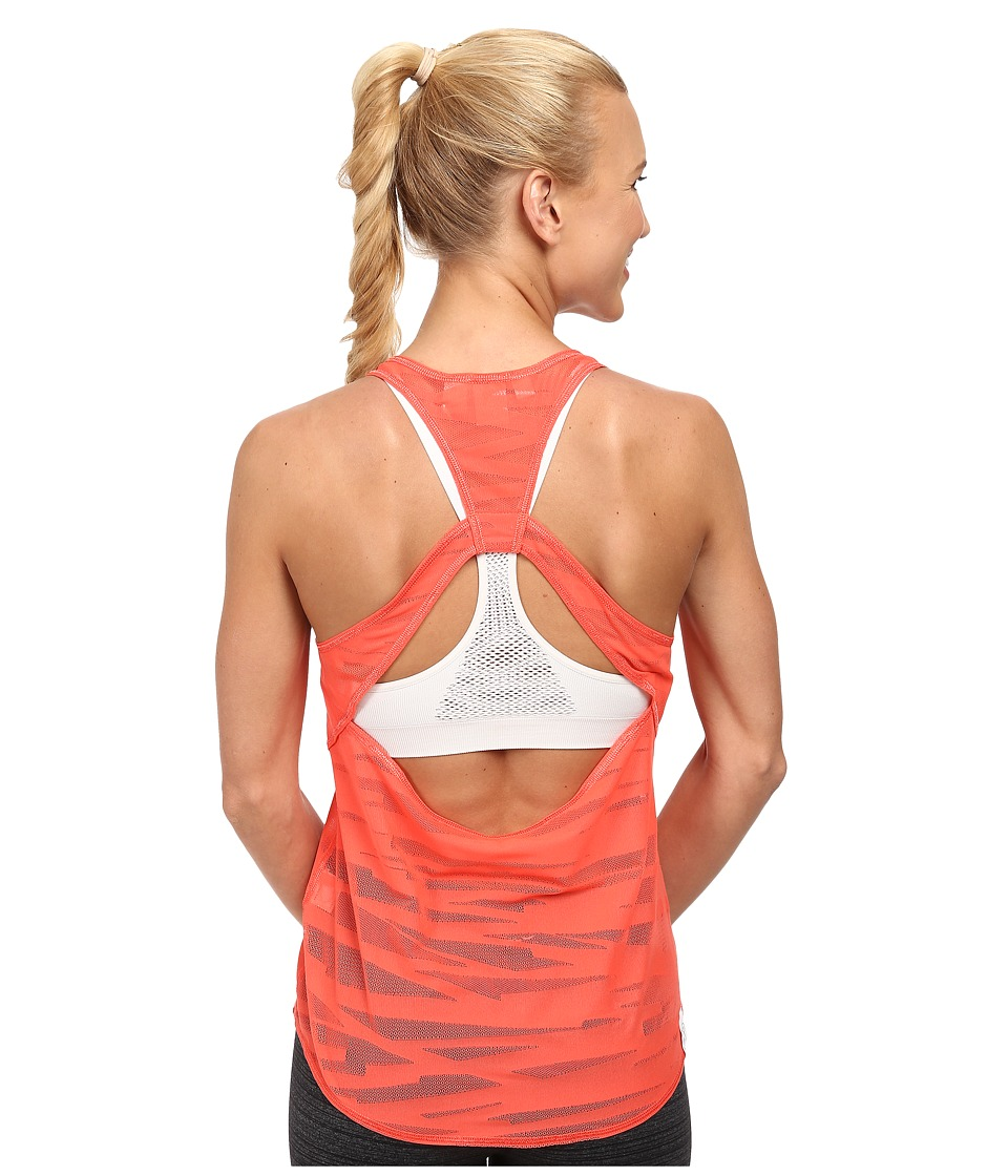 PUMA - Mesh It Up Layer Tank (Hot Coral) Women's Sleeveless