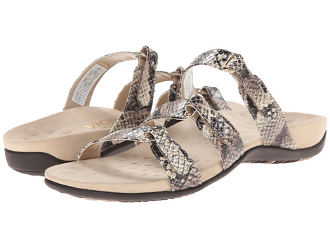 VIONIC with Orthaheel Technology - Aubrey (Natural Snake) Women's Sandals