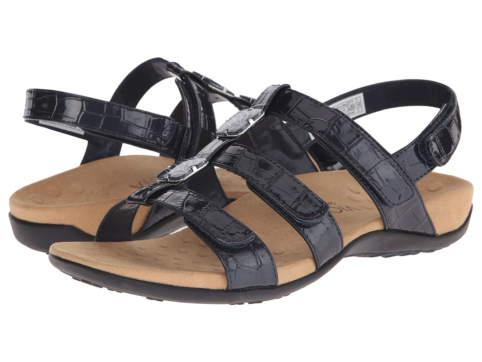 VIONIC - Amber (Navy Croco Patent) Women's Sandals