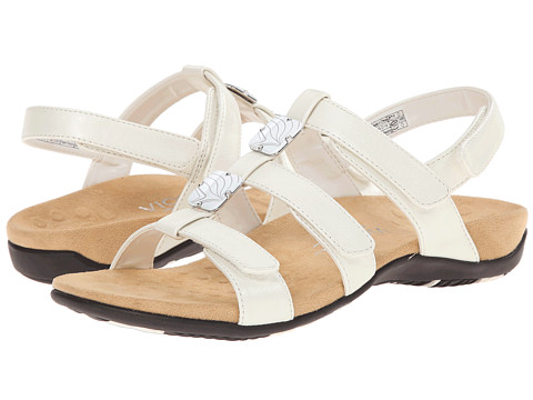 VIONIC with Orthaheel Technology - Amber (White Pearlized) Women's Sandals