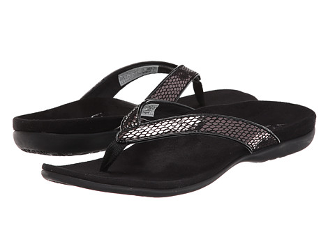VIONIC with Orthaheel Technology - Selena (Black Snake) Women's Sandals