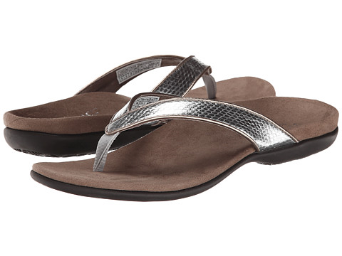 VIONIC with Orthaheel Technology - Selena (Pewter Snake) Women's Sandals
