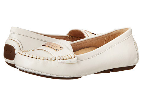 VIONIC with Orthaheel Technology - Sydney Flat Driver (White) Women's Flat Shoes