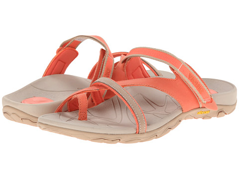 VIONIC with Orthaheel Technology - Mojave Vionic Sport Recovery Toepost Sandal (Coral/Sahara) Women's Shoes