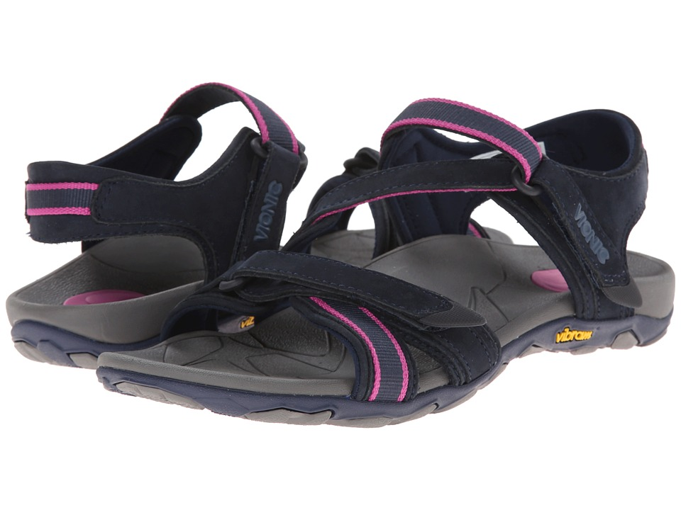 VIONIC - Muir Vionic Sport Recovery Adjustable Sandal (Navy/Berry) Women