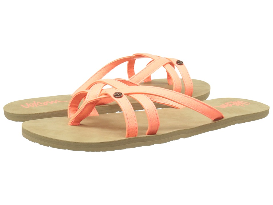 Volcom - Look Out 2 (Neon Orange) Women's Sandals