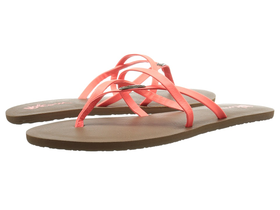 Volcom - All Night Long 2 (Electric Coral) Women's Sandals