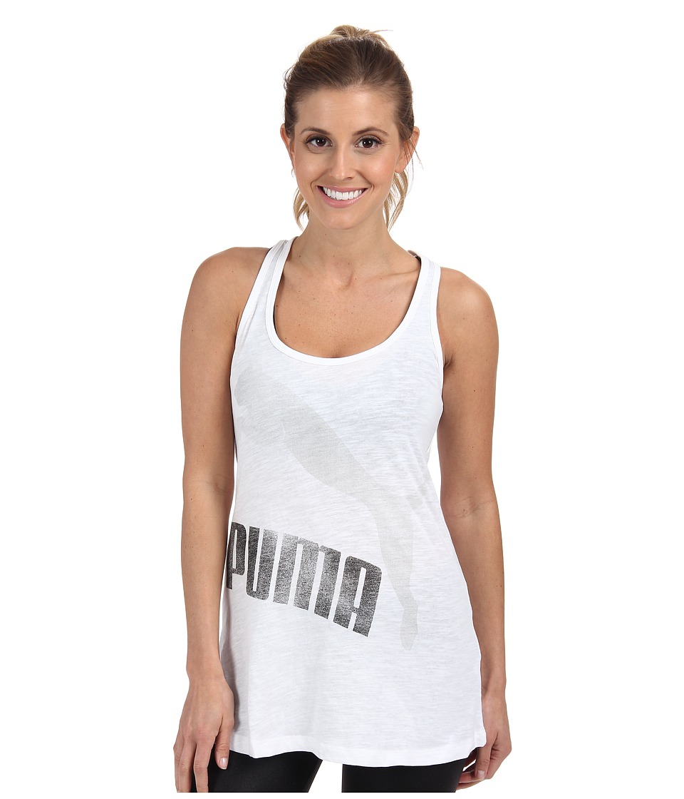 PUMA - Swing Tank (White/Limestone) Women's Sleeveless