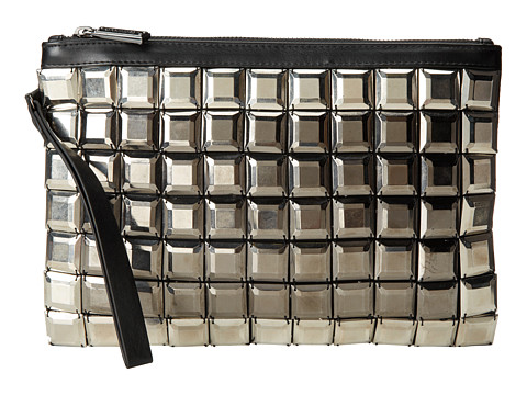 BCBGMAXAZRIA - Tatiana Zip Top Clutch w/ Large Plastic Beading (Antique Brass Combo) Clutch Handbags