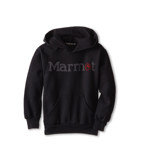 Marmot Kids - Pullover Hoody (Little Kids/Big Kids) (Black) Boy