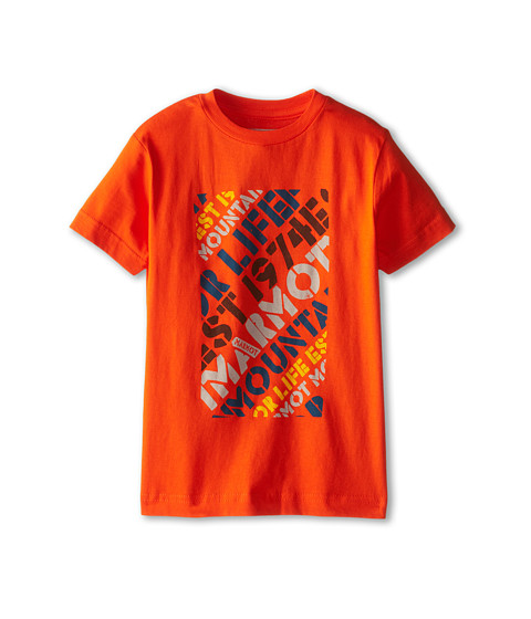 Marmot Kids - Revival Tee S/S (Little Kids/Big Kids) (Orange) Boy's T Shirt