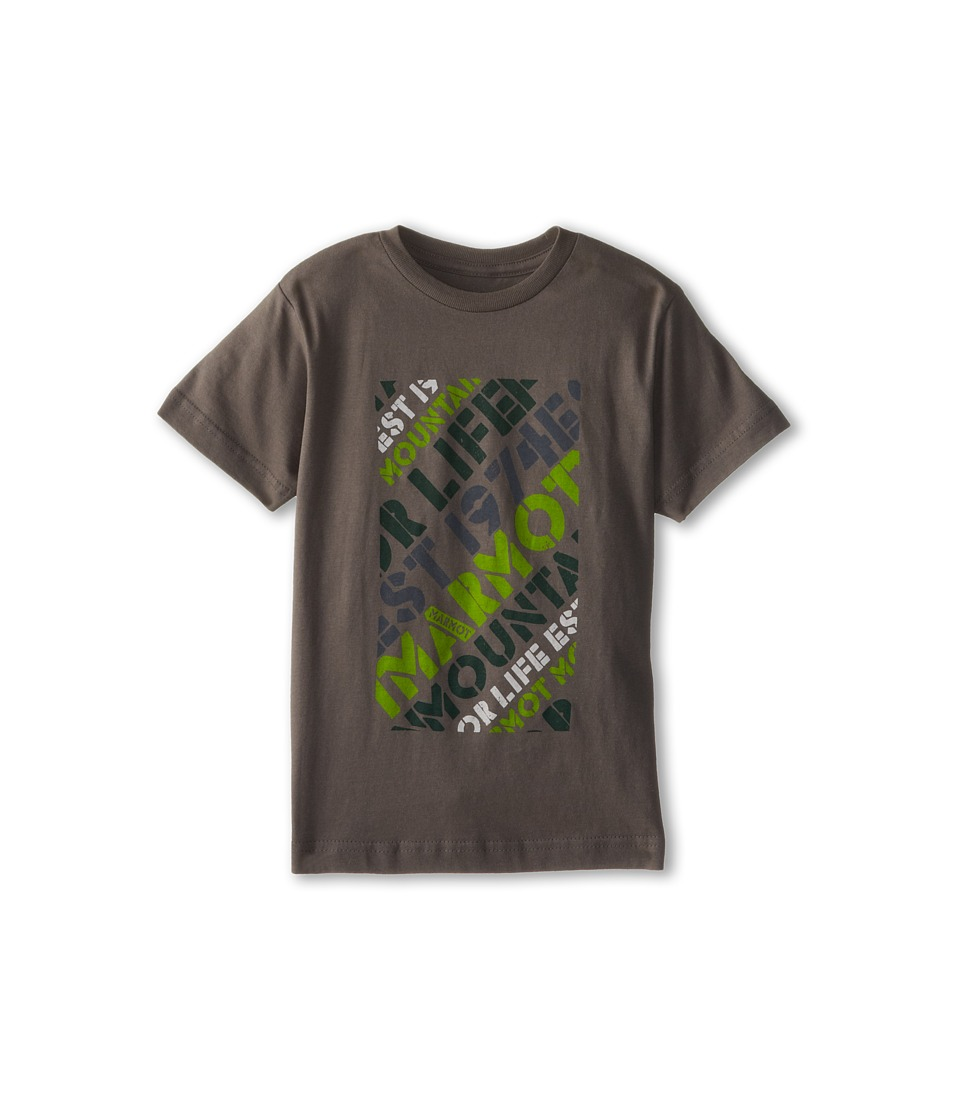 Marmot Kids - Revival Tee S/S (Little Kids/Big Kids) (Charcoal) Boy's T Shirt