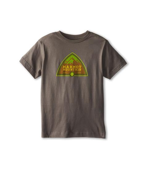 Marmot Kids - Tioga Pass Tee S/S (Little Kids/Big Kids) (Charcoal) Boy