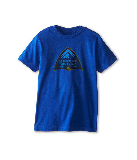 Marmot Kids - Tioga Pass Tee S/S (Little Kids/Big Kids) (Royal) Boy