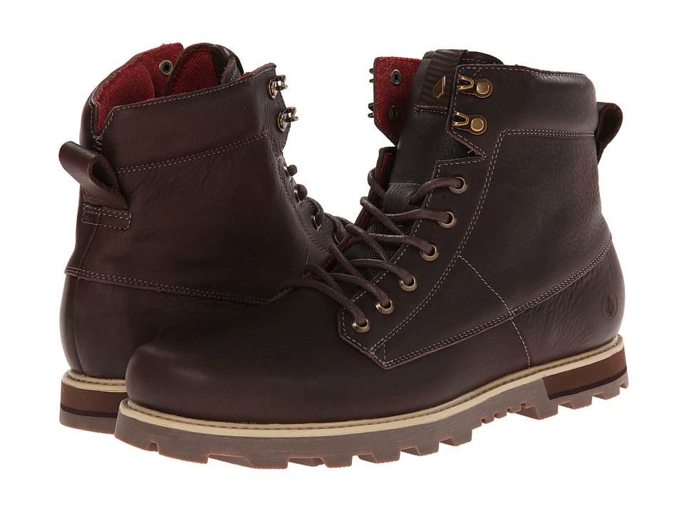 Volcom - Smithington 2 (Dark Brown) Men's Lace-up Boots