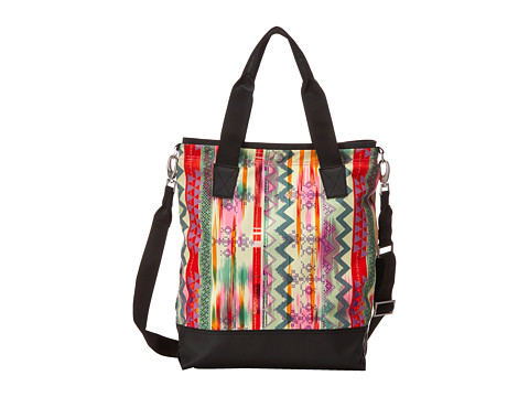 The North Face - Taylor Tall Tote (Glo Pink Future Folk Print) Tote Handbags