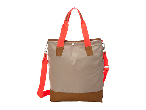 The North Face - Taylor Tall Tote (Dune Beige/Fiery Coral) Tote Handbags