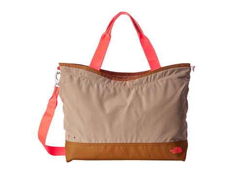 The North Face - Laryssa Gym Tote (Dune Beige/Fiery Coral) Bags