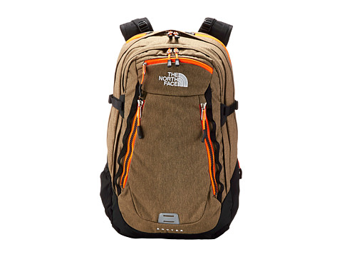 The North Face - Router (Utility Brown Heather/Power Orange) Backpack Bags