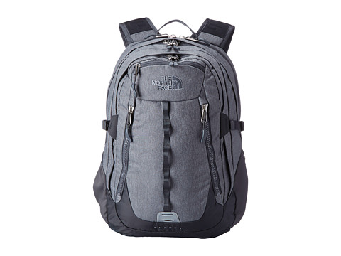 The North Face - Surge II (Zinc Grey Heather/Asphalt Grey) Backpack Bags
