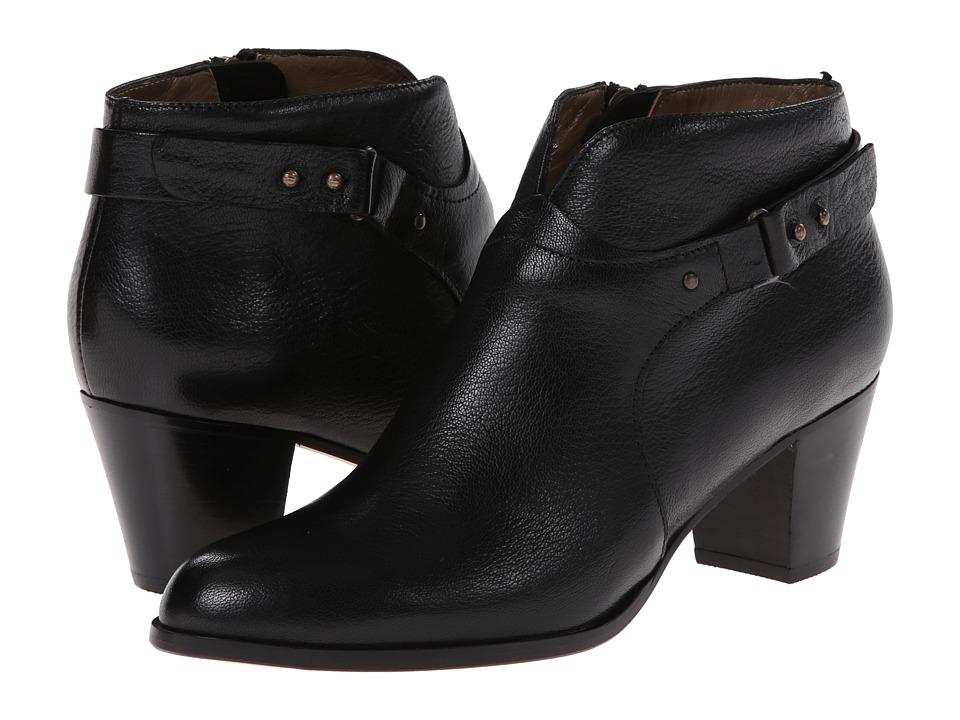 Anyi Lu - Cynthia (Black Tumbled Lux) Women's Zip Boots