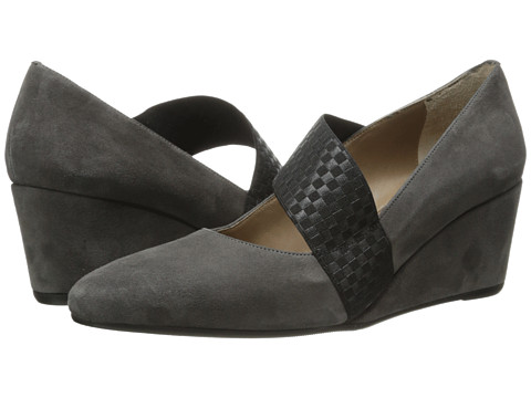 Anyi Lu - Katia (Graphite Suede/Black Stretch) High Heels