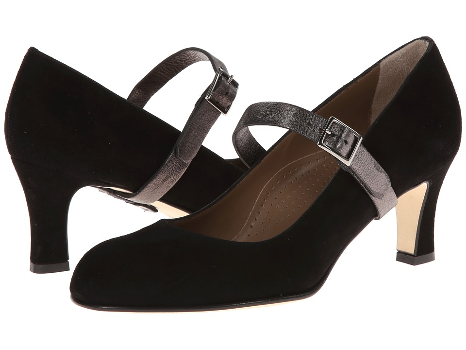 Anyi Lu - Tracy (Black Suede) High Heels