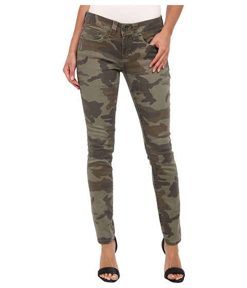 Seven7 Jeans Print Skinny in Camo/Olive Green (Camo/Olive Green) Women's Jeans