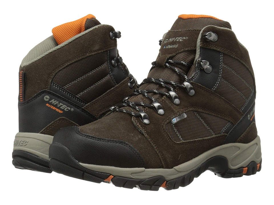 Hi-Tec - Borah Peak I-Shield Waterproof (Dark Chocolate/Burnt Orange) Men