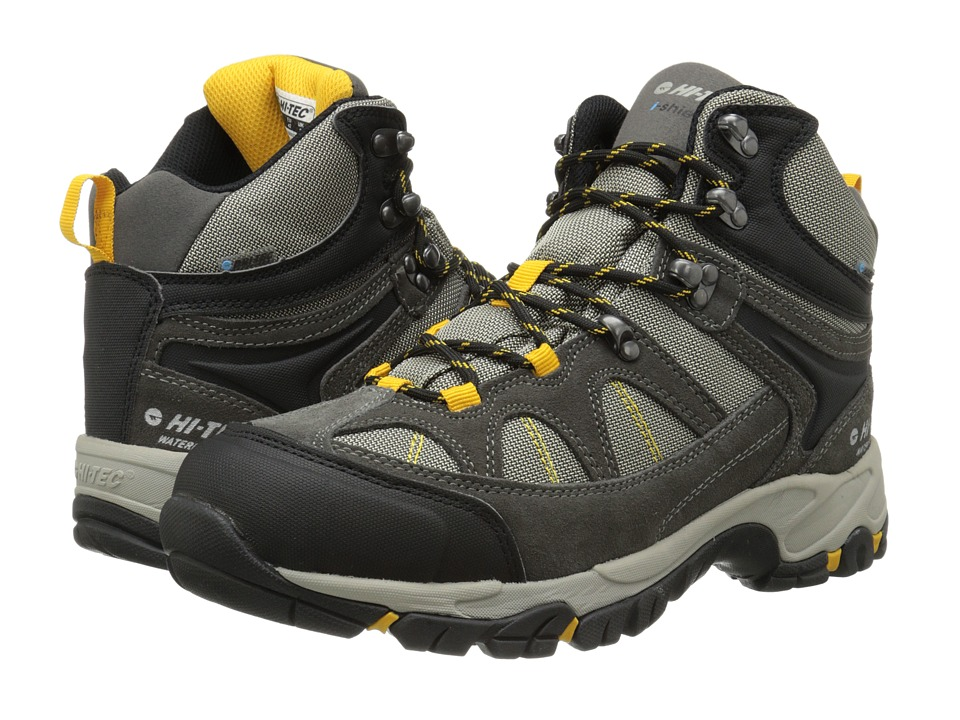 Hi-Tec - Altitude Lite I-Shield Waterproof (Charcoal/Warm Grey/Gold) Men's Hiking Boots
