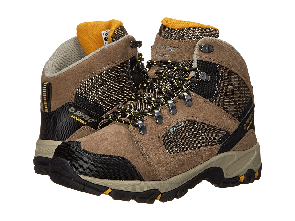 Hi-Tec - Borah Peak I-Shield Waterproof (Smokey Brown/Taupe/Gold) Men's Hiking Boots